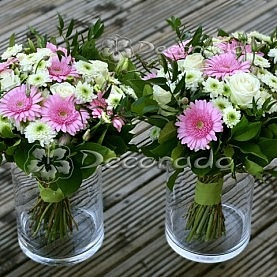 Eleganckie różowe gerbery