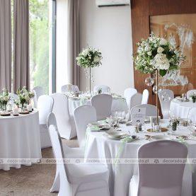 """Dekoracja ślubna sali w Hotelu Navigator – """"natura"""" w dekoracji"""