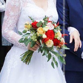 Wiązanka ślubna w jesiennych barwach