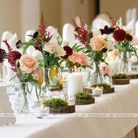 Dekoracja stołu prezydialnego – Pałac Wąsowo