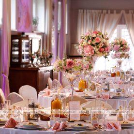 Dekoracja ślubna w odcieniach różu – Cysters Mironice