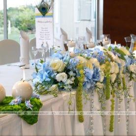 Błękit, zieleń, biel – delikatne kolory kwiatów – Park Hotel