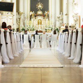 Dekoracja Kościoła w Rydzynie – eleganckie piwonie i biel tiulu