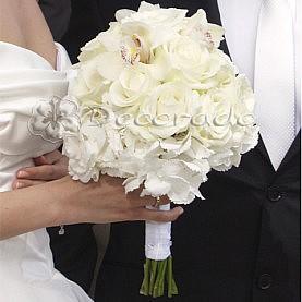 Elegancki biały bukiet ślubny