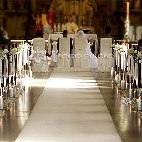 Sanktuarium w Biechowie – alejka lampionów