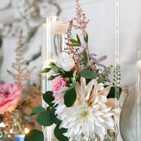 Delikatnie, naturalnie – dekoracja ślubna Pałac Rydzyna