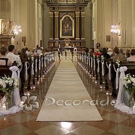Dekoracja ślubna Kościoła oo. Karmelitów Bosych w Poznaniu