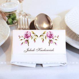 Papeteria ślubna w kolorach dekoracji sali