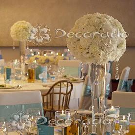Dekoracja ślubna w kolorze Tiffany Blue