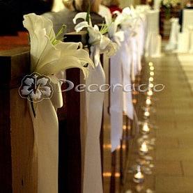 Dekoracja ślubna Kościoła w Kiszewie