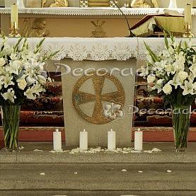 Dekoracja ołtarza – Kościół w Kiszewie