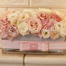 Kwiaty na kominku – dekoracja sali tanecznej Pałac Biedrusko