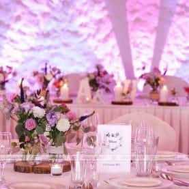 Dekoracja ślubna sali w Country Parku