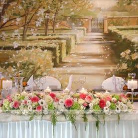 Kompozycja na stół prezydialny – Pałac na Opieszynie