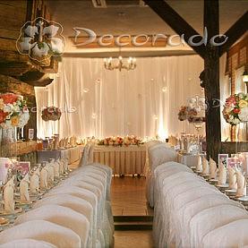 Ślubna dekoracja sali weselnej
