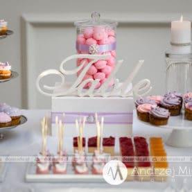 Dekoracja słodkiego stołu Pałac Jaśminowy