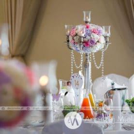 Dekoracja ślubna w stylu glamur Pałac Jaśminowy