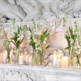 Dekoracja kominka w Pałacu Rydzyna