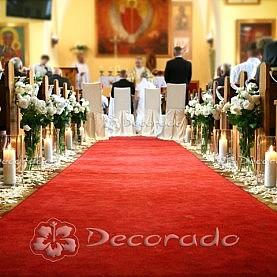 Kwiatowa alejka lampionów – dekoracja kościoła w Rokietnicy