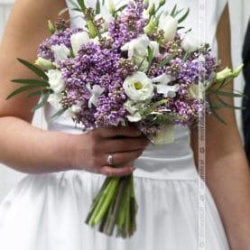 Bukiet ślubny z bzem