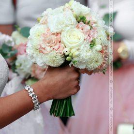 Elegancki bukiet z dodatkiem różu