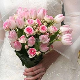 Wiosenna wiązanka ślubna