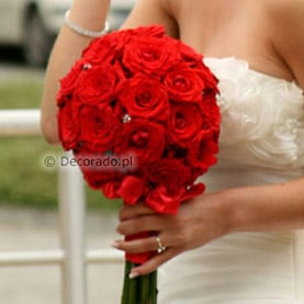 Berło z pięknych czerwonych róż