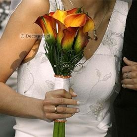 Prosta wiązanka ślubna
