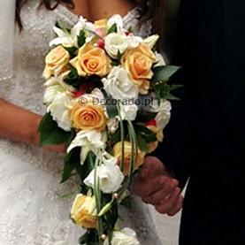 Bukiet ślubna – elegancka kaskada