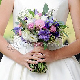 Delikatna wiązanka ślubna w stylu vintage