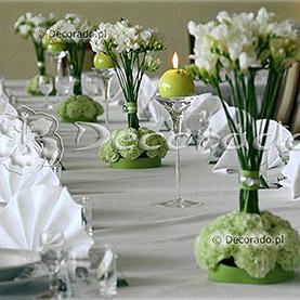 Delikatna dekoracja sali w kolorze pistacjowym – Hotel Henlex