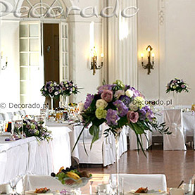 Elegancka dekoracja sali balowej w Pałacu w Rydzynie