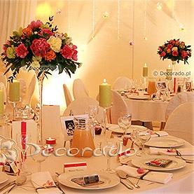 Malinowe akcenty – dekoracja ślubna namiotu – Pałac w Wąsowie