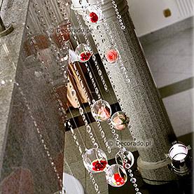 Eleganckie kryształy – dekoracja sali w Hotelu Pietras w Wągrowcu