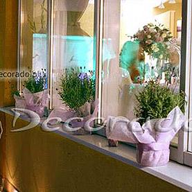 Lawendowe parapety – dekoracja tarasu w Lake Hotelu