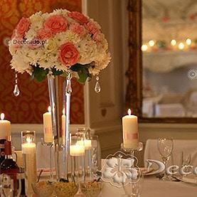 Świece, szkło, kwiaty – Pałac w Rydzynie