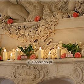 Dekoracja kominka w Pałacu w Rydzynie