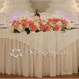 Dekoracja stołu prezydialnego – Pałac w Rydzynie