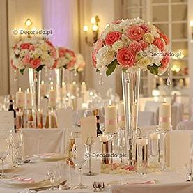 Róż i biel kwiatów – dekoracja Pałacu w Rydzynie