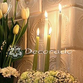 Tulipny i gipsówka w blasku świec – Pałac Biedrusko