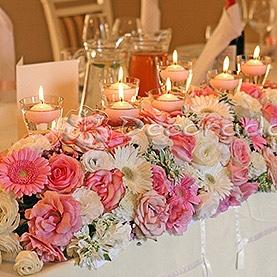 Kwiaty w odcieniach różu – Pałac Biedrusko