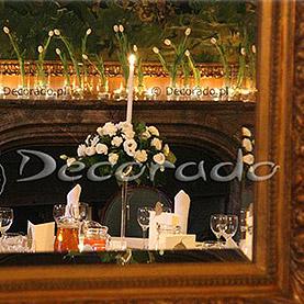 Tulipany na kominku – dekoracja sali w Pałacu w Wąsowie