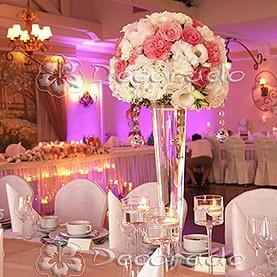 Romantyczny pudrowy róż w oprawie z kryształów – Pałac na Opieszynie