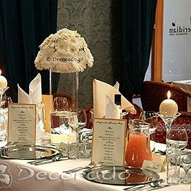 Ślubna biel kwiatów – Restauracja Meridian