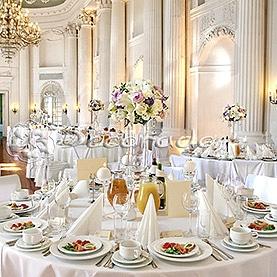 Dekoracja ślubna sali balowej Pałacu w Rydzynie
