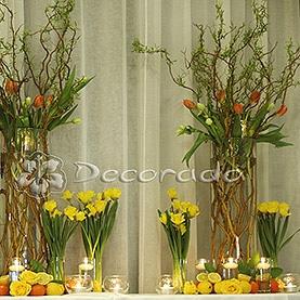 Intensywne wesołe kolory dekoracji ślubnej w Villa Natura