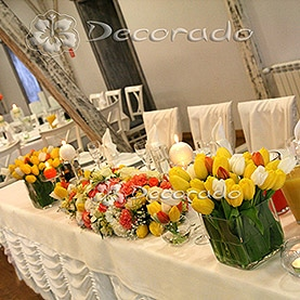 Dekoracja stołu Pary Młodej w Villa Natura