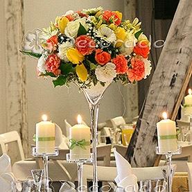 Kwiaty i świece – dekoracja sali w Villa Natura