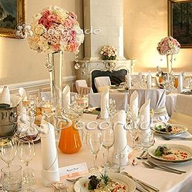 Pastelowa dekoracja sali – Pałac w Zakrzewie