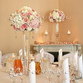 Eleganckie kompozycje z kwiatów – piękne hortensje – Pałac Zakrzewo